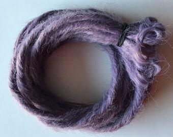 10 SE Single Ended Synthetic Dreads Light Purple Pastel Lavender Dreadlock Braid Hair Extensions