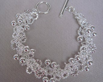 Fun for Spring n Summer Silver Bobble Bracelet