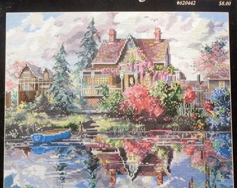 50%OFF Marty Bell's MENDOCINO TWILIGHT Mildred Hinnant Hedgepath Adaptation - Counted Cross Stitch Pattern Chart - By Jeanette Crews Designs