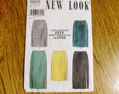 EASY Fitted Skirts - Dropped Waist Pencil Skirt (5 EASY Options in One!) - All Sizes (8 to 18) - UNCUT Sewing Pattern New Look 6809