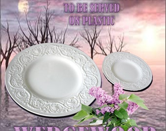 """Wedgewood Patrician Dinner/Bread and Butter Plate   10-5/8"""" and 6-1/2"""""""
