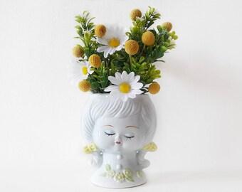 Vintage Sleeping Beauty Pottery Vase