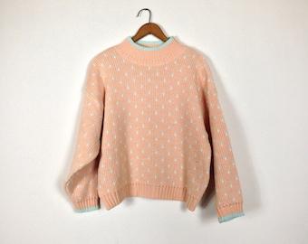 Vintage Paris Sport Club Polka Dot Sweater