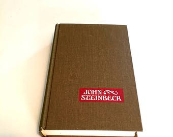 John Steinbeck Short Stories / Classic Literature / Vintage Hardback Book / Hardcover Fiction / American Literature / Cannery Row