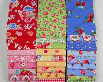 "Pam Kitty fabric 2.5"" strip bundle--HTF and OOP Lakehouse"