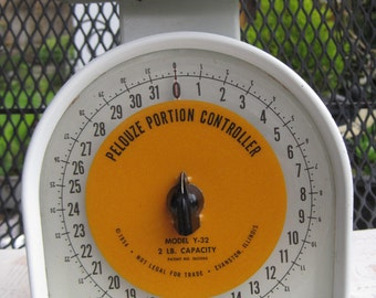 Pelouse Scale, Portion Controller, White Kitchen Scale