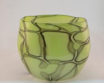 Green and Gray Murrine Bowl