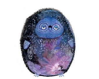 "Owl Art - Original Owl Watercolor Painting - Owl Wall Art - 4""x6"""