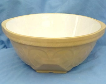 """Vintage T G Green Gripstand Mixing Bowl with Church Backstamp - 10.25"""" wide - Late 70s - 80s"""