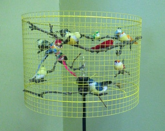 Birdcage Table Lamp/Floor Lamp Lampada - Made in US