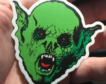 Green Bat Creature Vinyl Sticker Set (2 Stickers) Bram Stoker's Dracula Vampire Horror Art Sticker