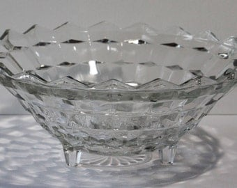 ON SALE NOW:  Vintage Indiana Glass, Whitehall Pattern 3-toed Bowl