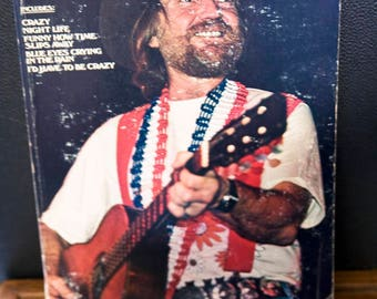 Vintage Willie Nelson Songbook, Columbia Pictures Publications 1976, 1970's Sheet Music Book
