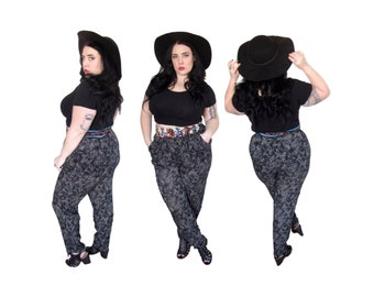 Plus Size Pants l Vintage 1980's Harem High Waisted Pants l Size XL l Vintage Pants