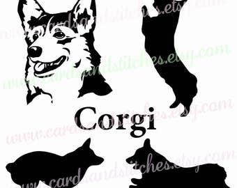 Corgi SVG - Corgi Silhouette SVG - Dog SVG -  Digital Cutting File - Vector File - Cricut Cut - Instant Download - Svg, Dxf, Jpg, Eps, Png