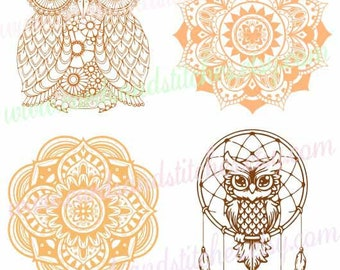 Owl SVG - Owl Mandala SVG - Mandala SVG - Digital Cutting File - Graphic Design - Cricut Cut - Instant Download - Svg, Dxf, Jpg, Eps, Png