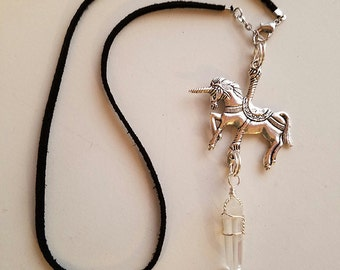 SALE! Little Witch - Carousel Unicorn Charm Necklace