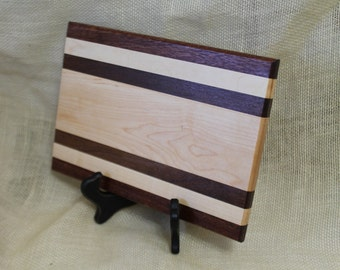 Cheese / Sushi Board Striped with Walnut, Maple and Mahogany