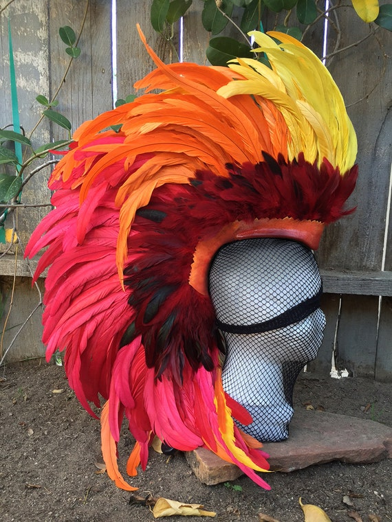 "Feather Mohawk / Headdress - ""The Phoenix V2"""