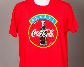 Vintage 80s 90s Always Coca-Cola red tshirt