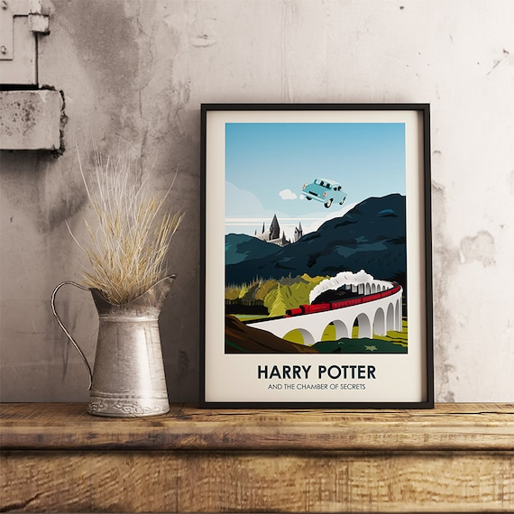 Harry potter poster print home decor wall art for Harry potter home decorations