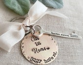 Personalized First Home . Housewarming Gift . First Home Gift . Our First Home . New Home Gift . Home Sweet Home . Personalized Keychain