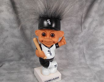 Dated Chicago White Sox Bobble Head Troll on Base Russ