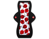 "Cloth Feminine Pad (10"" Moderate - Ladybug Flannel)"