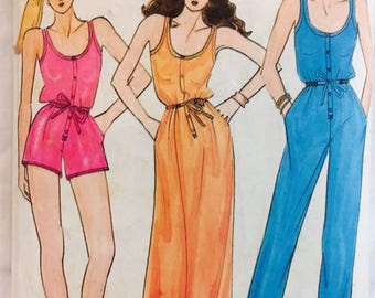 Butterick 6855 Jumpsuit and Nightgown by John Kloss