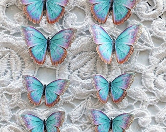 Reneabouquets Magical Miniatures Double Sided Butterfly Set -  Spun Sugar Butterflies For Miniatures & All Those Small Crafting Projects