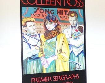 Colleen Ross Serigraph Signed Dallas Art Expo 1980s Print Poster Autographed Color Pop
