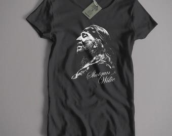 A Tribute To Willie Nelson T Shirt - Shotgun Willie Portrait Classic Country & Western Folk S-5XL and lady fit available