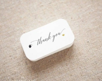 Modern Calligraphy Thank You Wedding Favor Tags - Custom Gift Tags - Bridal Shower - Thank you tags- Party Tags- Set of 40 (Item code: J673)