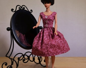 Retro Barbie Pink Mauve Sundress 50s 60s Style
