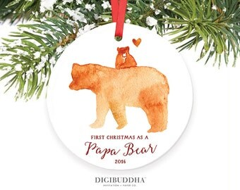 First Christmas as a Papa Bear Ornament New Daddy Christmas Ornament First Christmas as a Dad New Father Ornament New Daddy Gift for New Dad