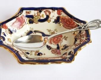 Antique Sterling Silver Spoon Rogers Lunt Bowlen, Art Nouveau Ornate Pierced Sterling Silver 925 Teaspoon
