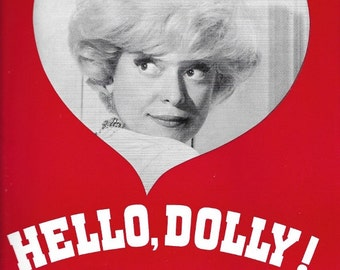 1966 Souvenir Booklet plus Playbill Program Carol Channing in Hello Dolly
