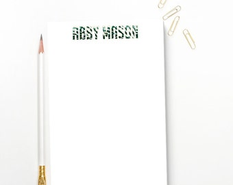 Personalized Tropical Palm Notepad