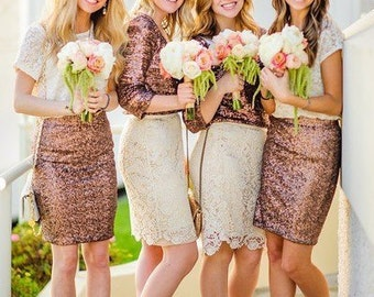 Sequin MIDI skirt, pencil skirt, bridesmaid sequin skirt