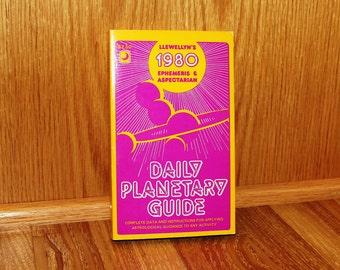Daily Planetary Guide - Llewellyn's 1980 Ephemeris & Aspectarian - Carl Weschke - Vintage 1979