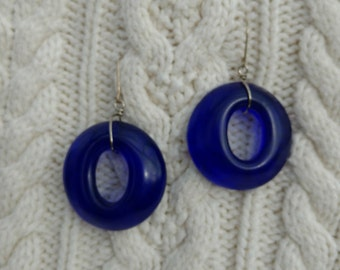 Recycled Wine Bottle Earrings