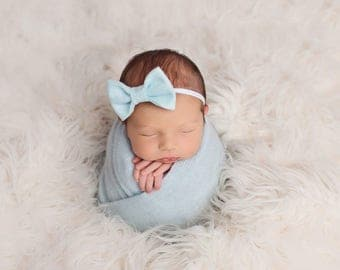 Baby Bow, Baby Headband, Felt Bow Headband, Baby Girl Headband, Newborn Headband, Baby Girl Bows, Newborn Bow, Nylon Headband, Girls Bows
