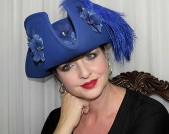 SAPPHIRE the PIRATE QUEEN Lady Pirate Style Headdress Hair Adornment Blue