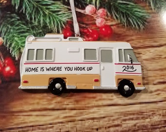 Personalized RV Camper Christmas Ornament