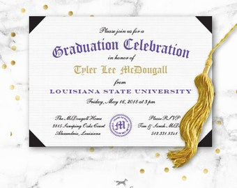 Graduation Party Invitation Printable - Diploma