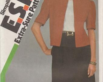 80s Dress & Jacket Pattern Simplicity 6291 Sizes 8, 10, 12 Uncut