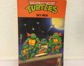Vintage Book, Teenage Mutant Ninja Turtles, Sky High, Early Readers, Kids Novel, TMNT Book