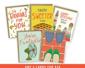 Mix & Match Greeting Cards - Pick any 5 Cards - Bulk Discount