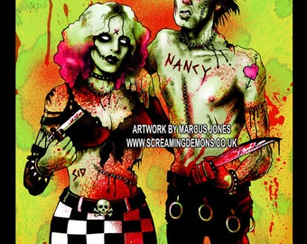 Zombie, Punk, Dark Art by Marcus Jones