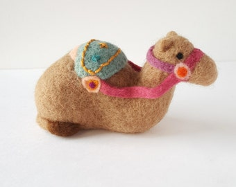 Needle Felted Decorated Camel